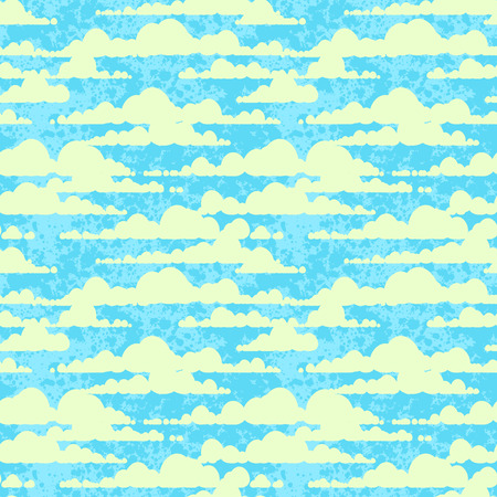 Seamless texture with clouds Vector