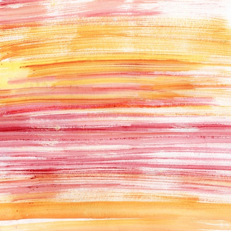 Pink and orange stripes watercolor, scanned in high resolution photo