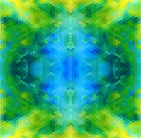 bluegreen: Blue-green abstract geometric seamless pattern vector