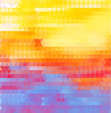 colores calidos: Vector de fondo abstracto geométrico-amarillo-rojo-azul Vectores