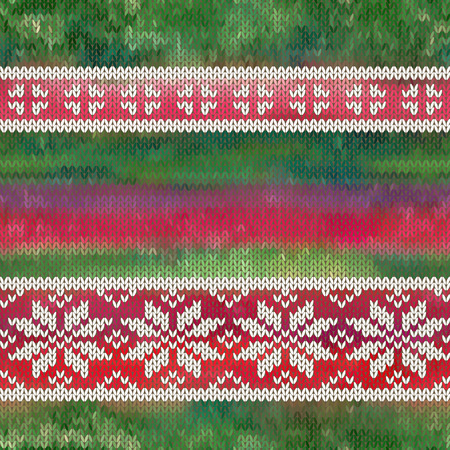 jacquard: Vector seamless background with snowflakes, imitation jacquard knitting