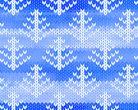 jacquard: Vector seamless background with trees. Imitation jacquard knitting
