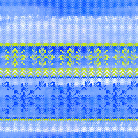 jacquard: Vector seamless knitted pattern with snowflakes