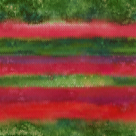 jacquard: Beautiful red and gark green seamless vector pattern, imitating knitted fabric