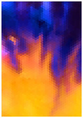 Seamless abstract Halloween vector flamed blue and orange background