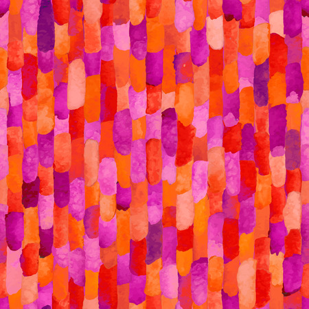 violet red: Red and violet watercolor bricks. Vector abstract seamless pattern. Illustration
