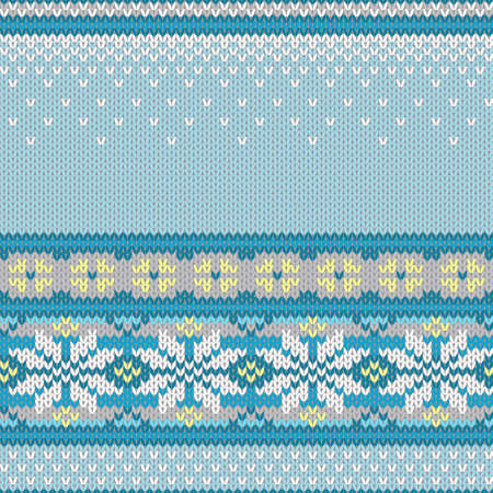norwegian: Vector seamless background with snowflakes, imitation jacquard knitting