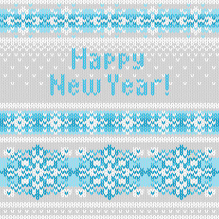 jacquard: seamless background with snowflakes, imitation jacquard knitting Illustration