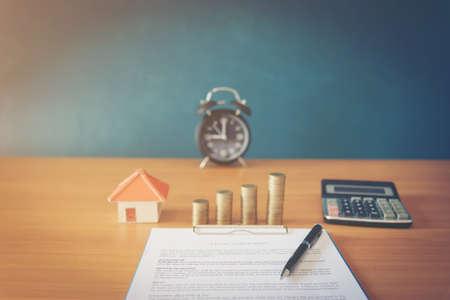 新しい家の販売のための契約(ローレムイプサム - 偽のテキスト)