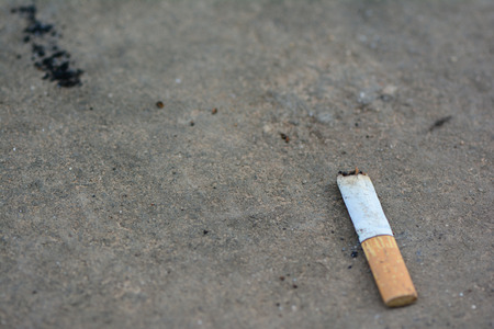 used cigarette