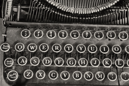 Antique Typewriter IV - An Antique Typewriter Showing Traditional QWERTY Keys IV photo