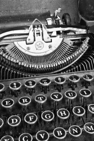 Antique Typewriter - An Antique Typewriter Showing Traditional QWERTY Keys VIII photo