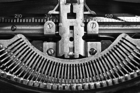 Antique Typewriter - An Antique Typewriter Showing Traditional QWERTY Keys IX photo