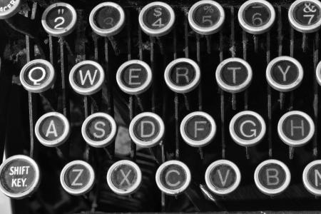 Antique Typewriter - An Antique Typewriter Showing Traditional QWERTY Keys IX