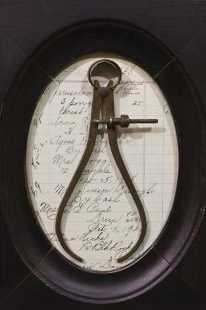 Antique Caliper Diameter Tool - Antique Caliper Used for Measuring Diameter