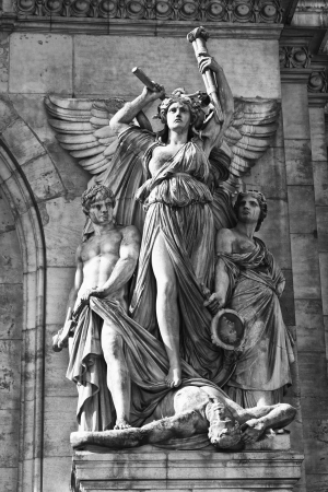 Paris Opera House Sculpture - Sculpture on the Facade of Palais Garnier photo