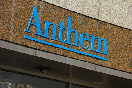 health care provider: INDIANAPOLIS - CIRCA OCTOBER 2015: Anthem World Headquarters,  Indianapolis, IN II Editorial