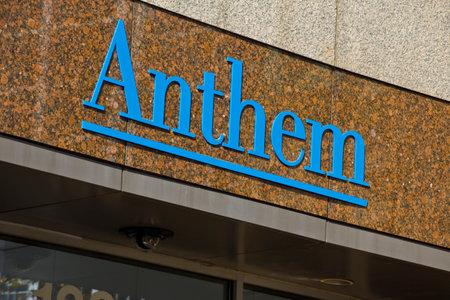 headquarters: INDIANAPOLIS - CIRCA OCTOBER 2015: Anthem World Headquarters,  Indianapolis, IN II Editorial