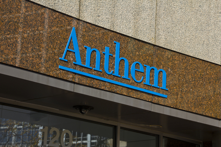 health care provider: INDIANAPOLIS - CIRCA OCTOBER 2015: Anthem World Headquarters,  Indianapolis, IN I