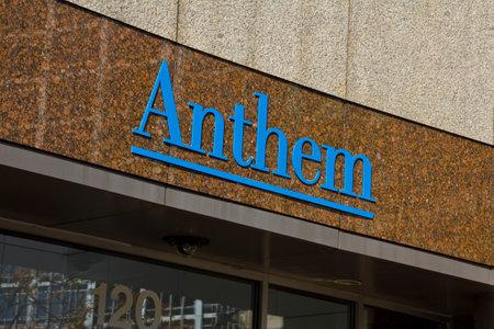 headquarters: INDIANAPOLIS - CIRCA OCTOBER 2015: Anthem World Headquarters,  Indianapolis, IN I