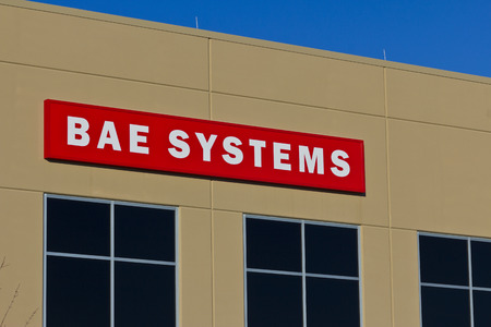 lockheed martin: Ft. Wayne, IN - Circa December 2015: BAE Systems Manufacturing Facility. BAE Provides Advanced Aerospace Solutions II