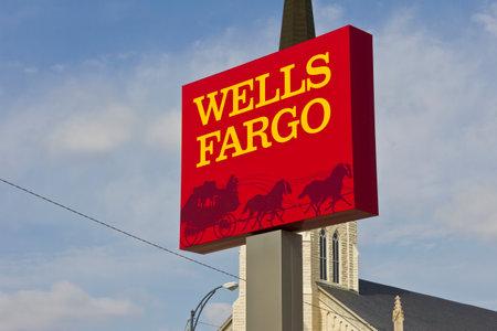 2016 年 3 月頃 - ペルー: ウェルズファーゴ小売銀行支店。ウェルズ ・ ファーゴは金融サービス IV のプロバイダー 報道画像