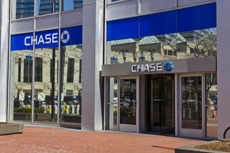 Indianapolis - Circa March 2016: Chase Bank. Chase is the U.S. Consumer and Commercial Banking Business of JPMorgan Chase III