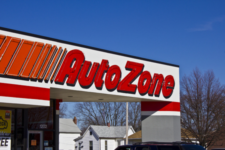 aftermarket: Indianapolis - Circa March 2016: AutoZone Retail Store. AutoZone is a Retailer and Distributor of Automotive Parts III Editorial