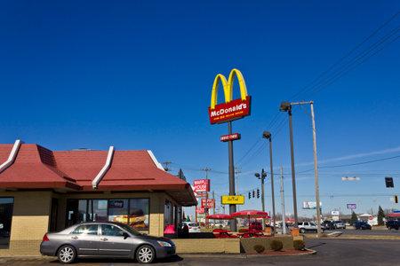Indianapolis - Circa March 2016: McDonald's Restaurant Location.  McDonald's is a Chain of Hamburger Restaurants II