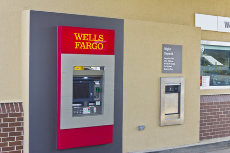 bank branch: Peru, IN - Circa March 2016: A Wells Fargo Retail Bank Branch. Wells Fargo is a Provider of Financial Services III