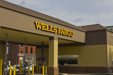 wells: Peru, IN - Circa March 2016: A Wells Fargo Retail Bank Branch. Wells Fargo is a Provider of Financial Services I