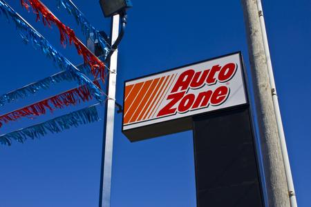 aftermarket: Indianapolis - Circa March 2016: AutoZone Retail Store. AutoZone is a Retailer and Distributor of Automotive Parts II