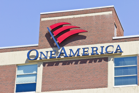 annuities: Indianapolis - Circa April 2016: OneAmerica Downtown Location. OneAmerica is a Mutual Insurance Holding Company I