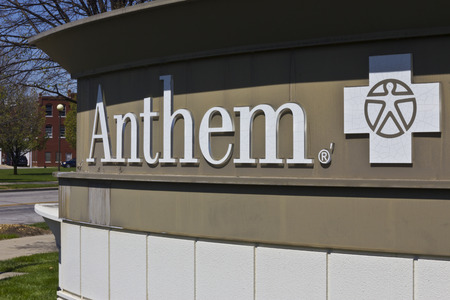 Indianapolis - Circa April 2016: Anthem World Headquarters. Anthem is a Trusted Health Insurance Plan Provider V Editöryel