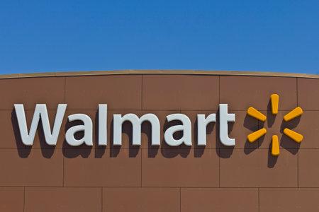 walmart: Indianapolis - Circa March 2016: Walmart Retail Location. Walmart is an American Multinational Retail Corporation IV