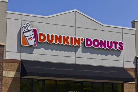Indianapolis - Circa May 2016: Dunkin Donuts Retail Location. Dunkin is Americas favorite every day, all-day stop for coffee and baked goods II