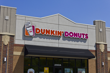 Indianapolis - Circa May 2016: Dunkin Donuts Retail Location. Dunkin is Americas favorite every day, all-day stop for coffee and baked goods III