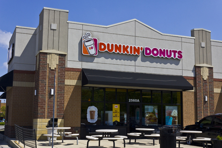 Indianapolis - Circa May 2016: Dunkin Donuts Retail Location. Dunkin is Americas favorite every day, all-day stop for coffee and baked goods I