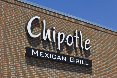 Indianapolis - Circa May 2016: Chipotle Mexican Grill Restaurant. Chipotle is a Chain of Burrito Fast-Food Restaurants VII