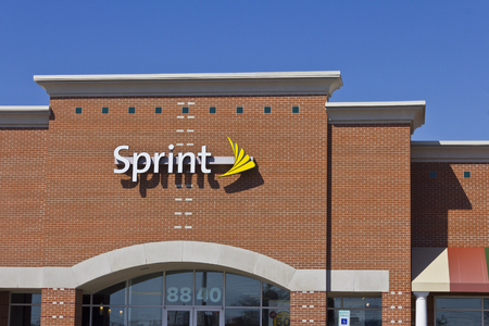 Indianapolis - Circa November 2015: Sprint Retail Wireless Store. Sprint is a provider of wireless plans, cell phones, and accessories III Editorial
