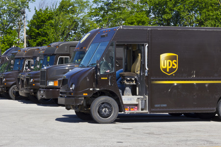 delivery van: Indianapolis - Circa June 2016: United Parcel Service Location. UPS is the Worlds Largest Package Delivery Company IV