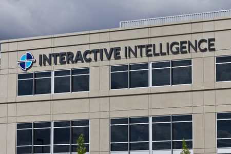 Indianapolis - Circa June 2016: Interactive Intelligence Corporate Headquarters, Interactive Intelligence Provides Cloud Services for Customer Engagement, Communications and Collaboration I