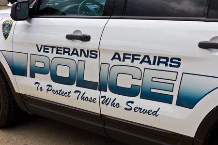 medical fight: Indianapolis - Circa June 2016: Veterans Affairs Police at the Roudebush VA Medical Center Editorial