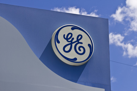 Cincinnati - Circa June 2016: Logos From the General Electric Aviation Facility. GE Aviation is a Provider of Jet Engines III Editorial