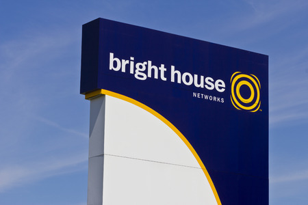 coax: Indianapolis - Circa June 2016: Bright House Networks Sign. Bright House is the 6th Largest MSO in the US I
