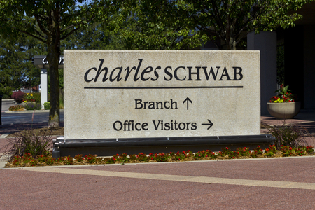 brokerage: Indianapolis - Circa June 2016: Charles Schwab Consumer Location. The Charles Schwab Corporation Provides Brokerage, Banking and Financial Services II
