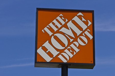 retailer: Indianapolis - Circa June 2016: The Home Depot Sign. Home Depot is the Largest Home Improvement Retailer in the US I