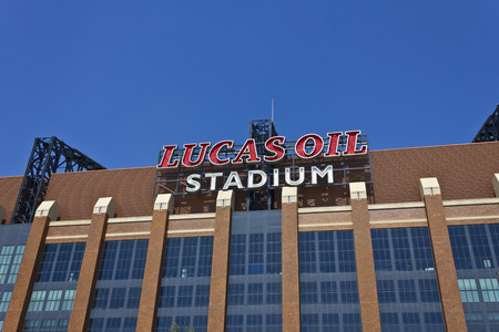 indianapolis: Indianapolis - Circa June 2016: Lucas Oil Stadium. Lucas Oil is a Sponsor of the Indianapolis Colts II