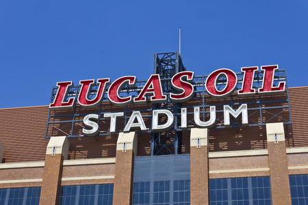 lucas: Indianapolis - Circa June 2016: Lucas Oil Stadium. Lucas Oil is a Sponsor of the Indianapolis Colts I Editorial