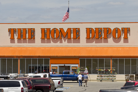 retailer: Logansport, IN - Circa June 2016: Home Depot Location. Home Depot is the Largest Home Improvement Retailer in the US III